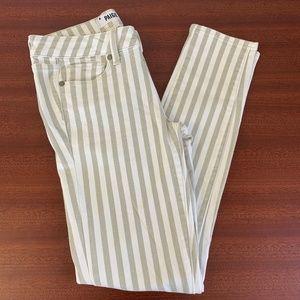 EUC Paige Paints Verdugo Ankle Desert Khaki Stripe